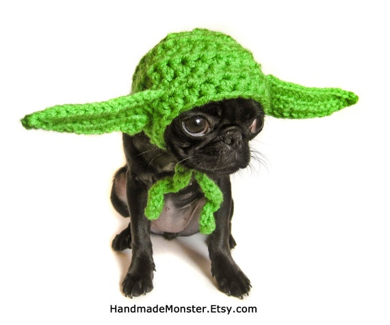 sc 1 st  Etsy & extra small STAR WARS DOG hat costume yoda inspired pet