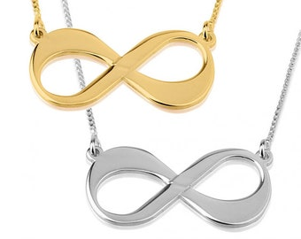 Infinity Pendant Necklace, Infinity Necklace, Sterling Silver, Gold or RoseGold Plated, Mothers Day Gift, Anniversary Gift, Best Friend Gift