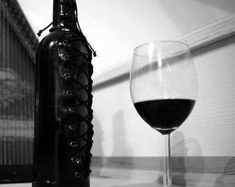 Latex corset on the bottle