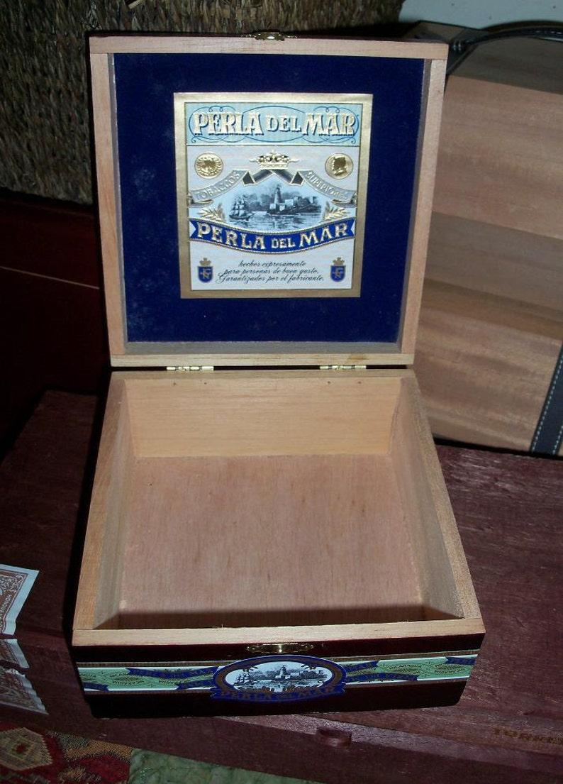 Cigar Box Lighthouse /& Ship Art Box Perla Del Mar Wooden Storage Treasure Chest A Dozen In Stock by IndustrialPlanet