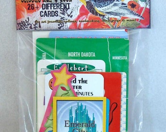 eclectic half-a-deck playing card assortment
