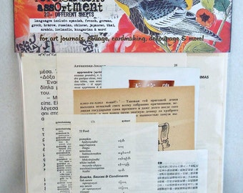 deluxe foreign text vintage collage assortment