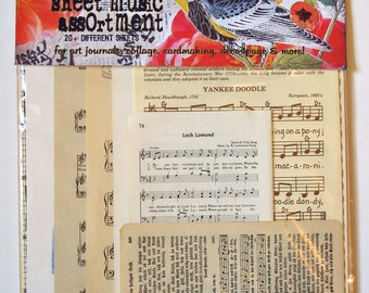 deluxe sheet music vintage collage assortment