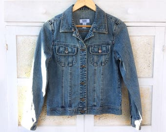 Genuine vintage french navy's denim jacket, size Medium, rare / real vintage from the French Navy, denim jacket size M, rare.
