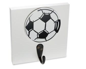Soccer Ball Sports Wall Hook, kids coat hook, boys room, boy wall hooks, room decor, wall decor, room ideas