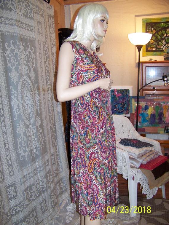 Vintage silk paisley dress and bolero shell from … - image 9