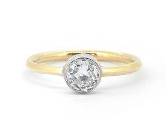 The Astrid Ring - 18ct Gold Diamond Solitaire Engagement Ring