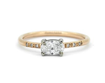 The Diamond Amelia Ring - Diamond Rose Gold Engagement Ring