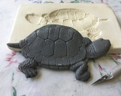 Clay Sprig Mold Turtle Pottery Press Mold Relief Mold or Sprig Mold Bisque Clay for Ceramic Decoration and Texture White