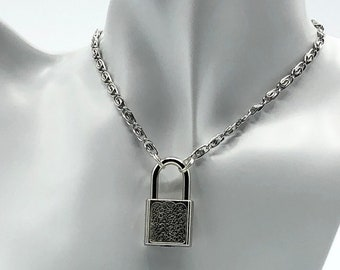 BDSM Locking Collar, Discreet Day Collar, Gift for Submissive