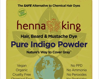Henna King Pure Indigo 100% Natural & Chemical Free Hair Coloring