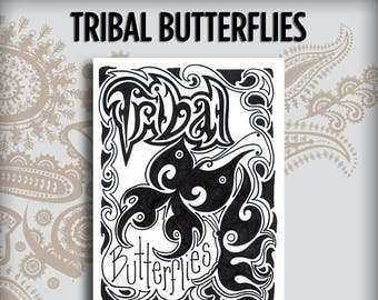 Tribal Butterflies Design Book