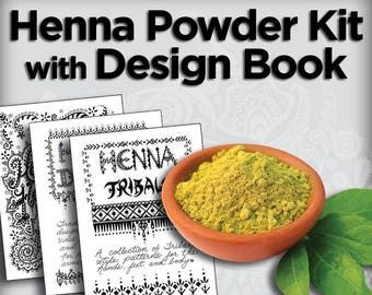 Henna Powder & Design Book Kit