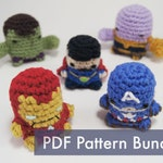 PDF Pattern for Crocheted Thanos from Avengers Amigurumi Finger Puppet