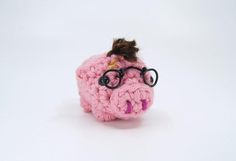 Crocheted 'Harry Porker' Keychain / Finger Puppet image 0