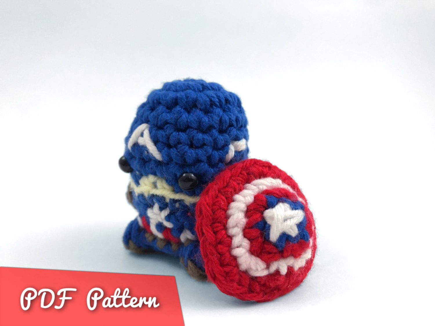 Pdf Pattern For Crocheted Captain America From The Avengers Etsy