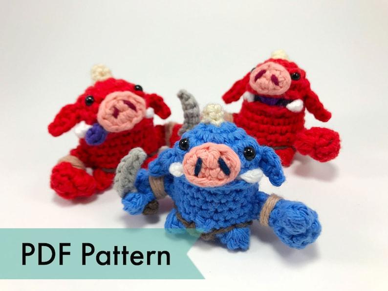 Bokoblins from Legend of Zelda Crocheted Amigurumi Finger image 1