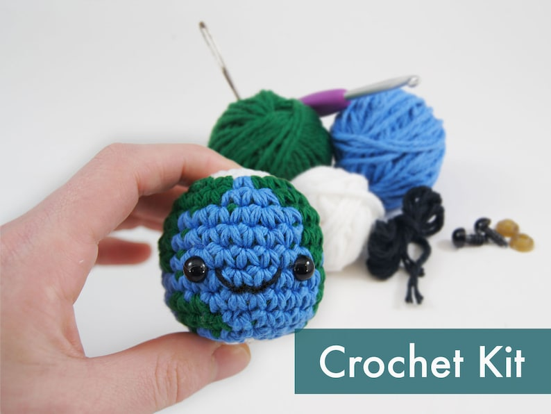 Planet Earth Amigurumi Crochet Kit image 0