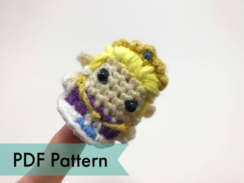 Zelda from Legend of Zelda Crocheted Amigurumi Finger Puppet image 0