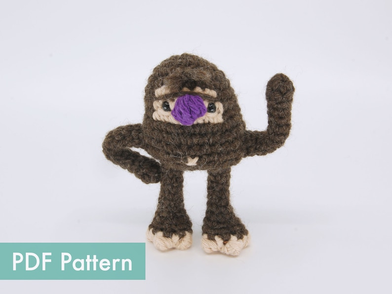 Crocheted Bigfoot Bobby Amigurumi PDF Pattern image 0
