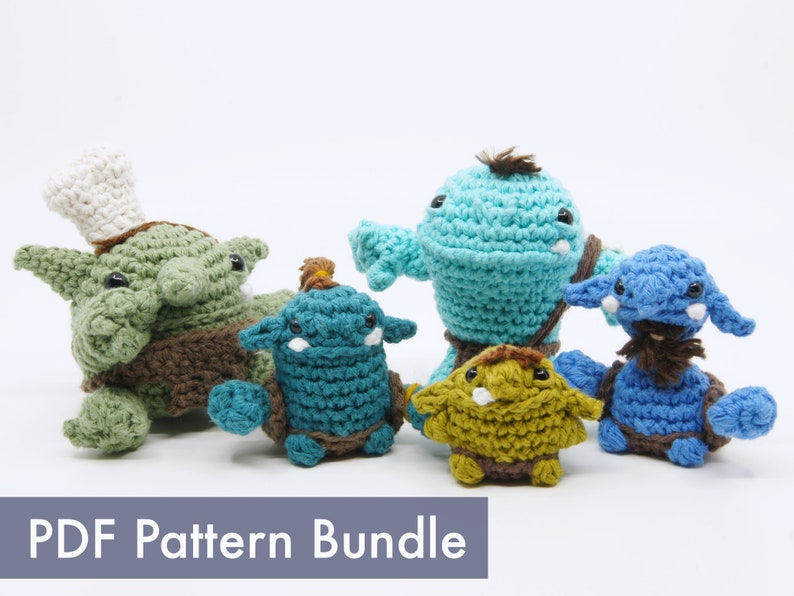Crocheted Goblinoid Creatures PDF Pattern Bundle image 0