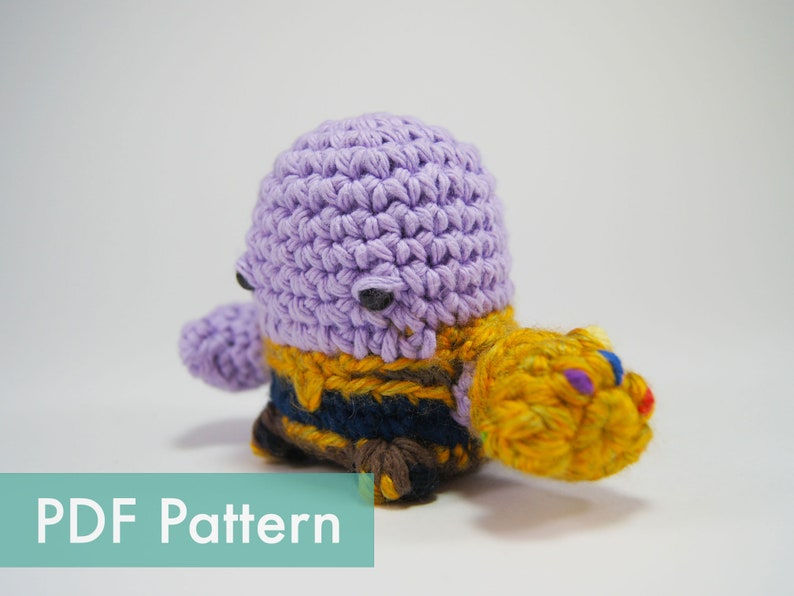 PDF Pattern for Crocheted Thanos from Avengers Amigurumi image 0