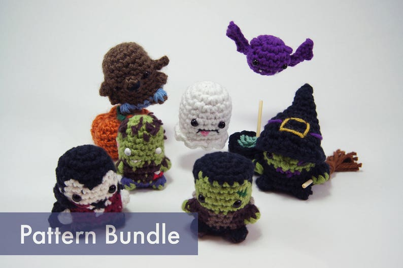 Halloween Classic Creatures and Monsters PDF Crochet Patterns image 0