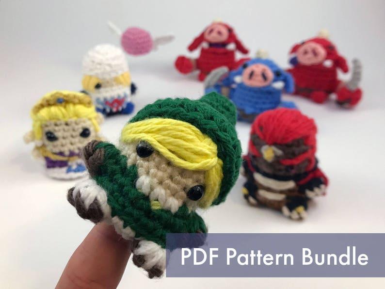 The Legend of Zelda Crocheted Amigurumi Finger Puppet PDF image 0