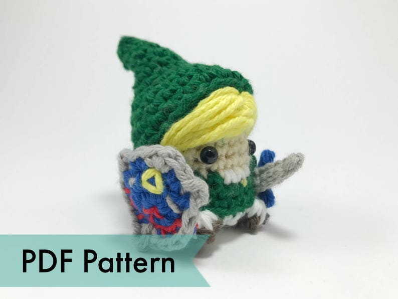 Link from Legend of Zelda Crocheted Amigurumi Finger Puppet image 0