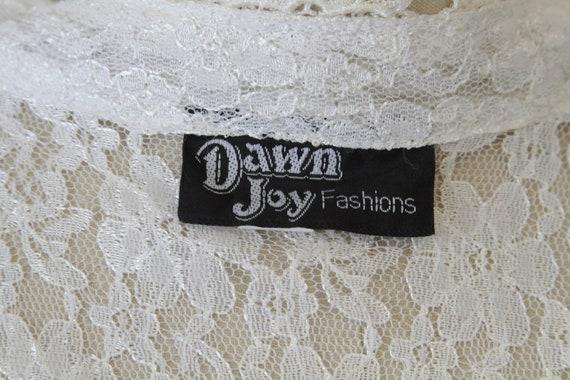 White Lace Vintage Maxi Dress - image 4