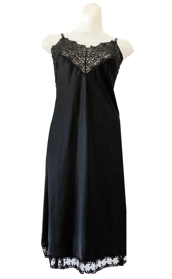 Black Vintage Slip Dress