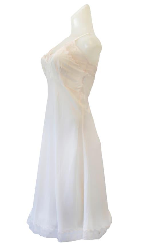 Ivory Vintage Slip Dress With Floral Detail - image 3