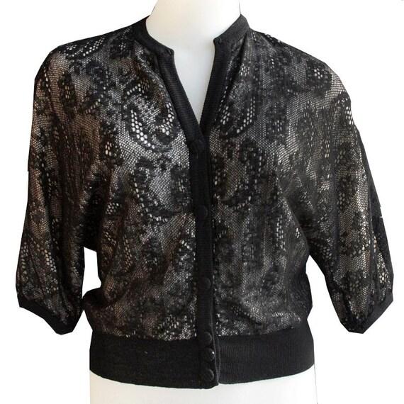 Black Vintage Lace Sweater