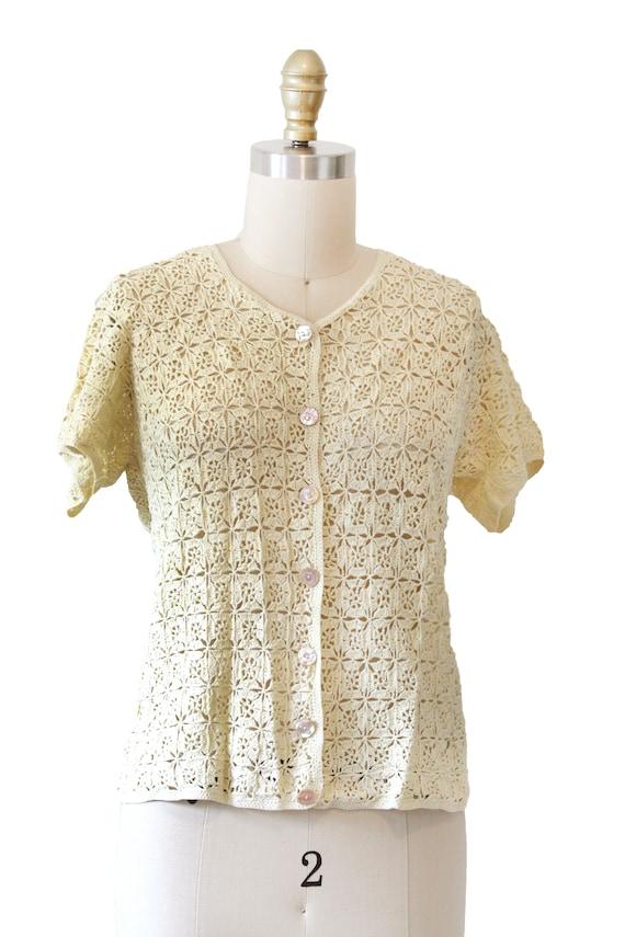 Yellow Vintage Crotchet Top