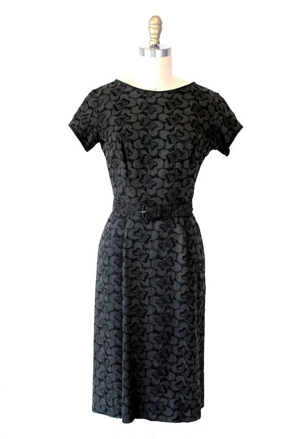 Black Vintage Eyelet Dress