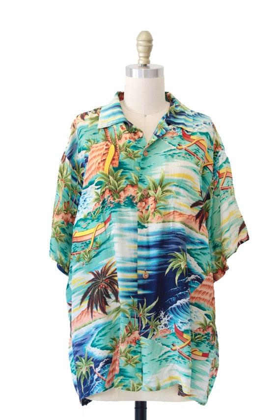 Vintage Pali Hawaiian Style Shirt