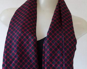 Harve Benard Geometrical Patterned Silk Scarf