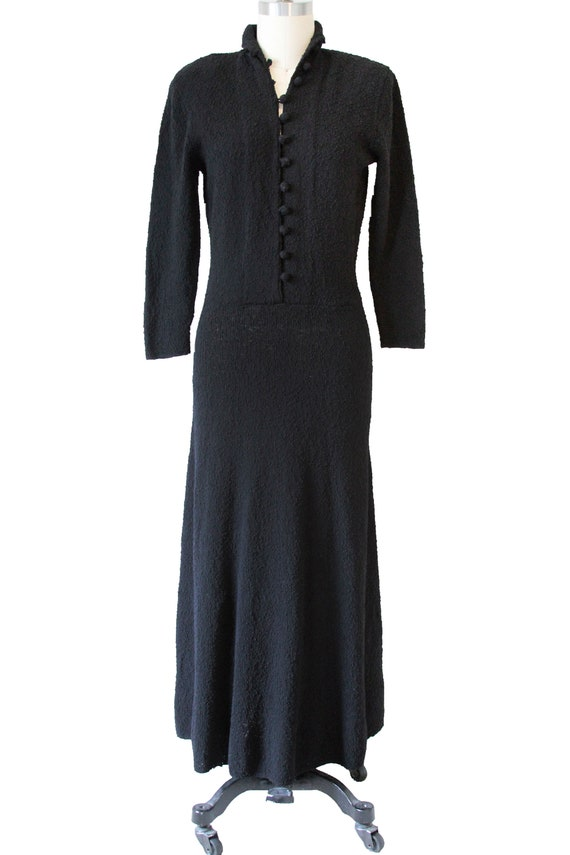 Black Vintage Knit Dress
