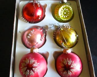 European Christmas Ornaments Handmade in Romania with Original Box