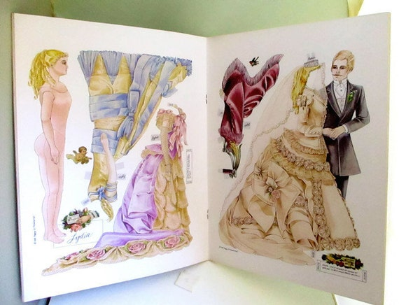 A Fashion Doll/'s Paper Doll Diary Peggy Jo Rosamond Uncut Book Vintage 1988
