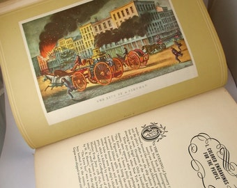 1940s Currier and Ives Book Printmakers to the American People by Harry T. Peters Illustrated Suitable for Framing