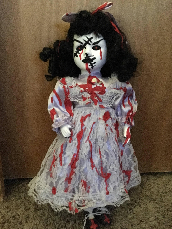Haunted Dead Horror Porcelain Halloween Dolls Etsy