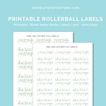 Printable Blank Essential Oil Roller Bottle Labels | 5ml Labels | 10ml Labels | Rollerball Labels - INSTANT DOWNLOAD