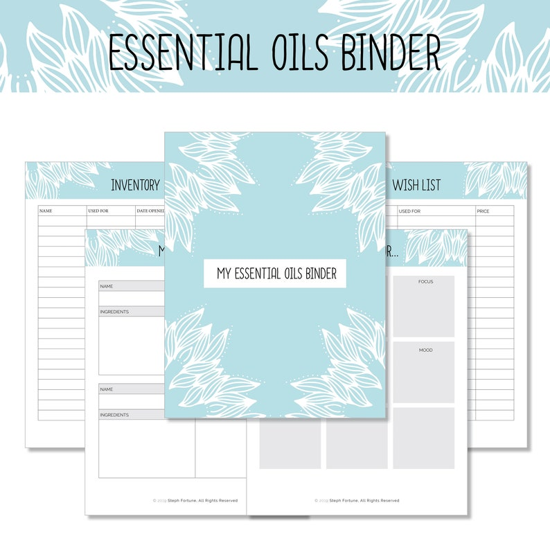 Printable Essential Oils Binder  Essential Oils Printable image 0
