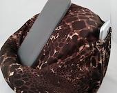 Large bean bag chair for tablets giraffe print dark brown