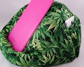 Cannabis EXTRA LARGE bean bag chair for tablets green and black