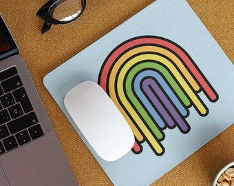 Dripping Rainbow Mouse Pad - Colorful Pride Mousepad