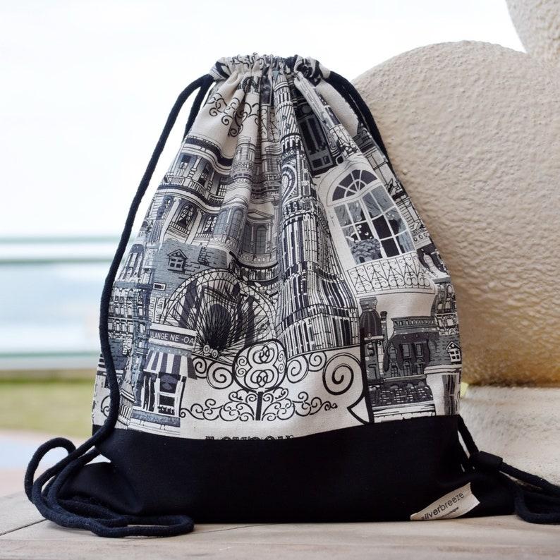 02f743f45 Drawstring backpack/ Cotton backpack/ Drawstring bag/ handmade | Etsy