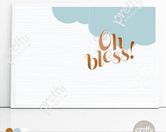 Printable Backdrop | Oh Bless | Personalised Digital PDF