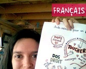 FR - FRENCH - Poster Cheat sheet for physiological birth in french to hang for midwives, nurses, doulas, yoga teachers